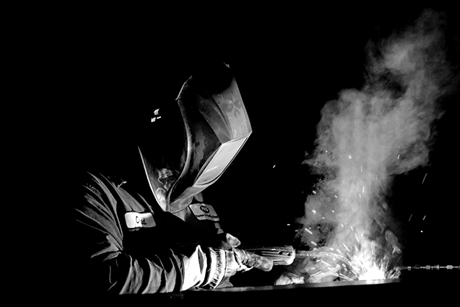 Welding black and white